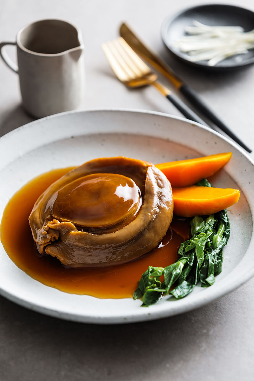 braised-abalone-with-sweet-potato-and-greens